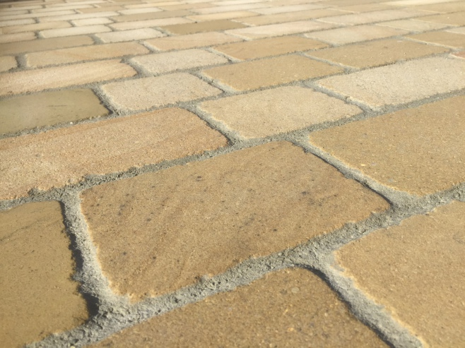 Natural stone driveway or concrete block paving