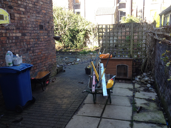 York stone garden before