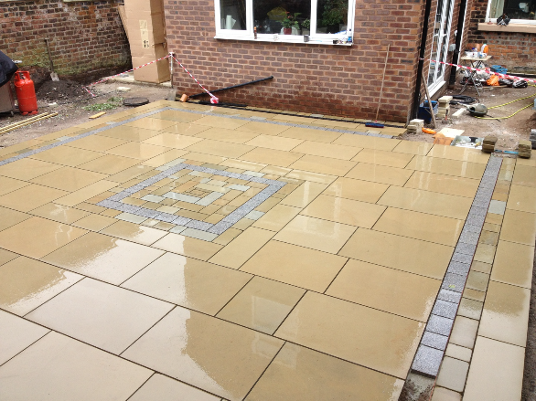 Yorkstone patio Liverpool