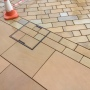Recessed manhole cover with York stone