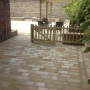 Stone paving in the garden