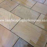 Diamond sawn Yorkstone paving