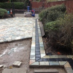 Natural quartz stone sett (cobbled) driveway in Liverpool, Merseyside