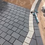 Limestone sett (cobbled) driveway