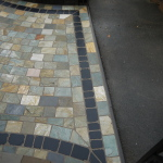 Natural quartz and limestone setts