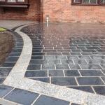 Limestone and granite sett (cobble) driveway Merseyside