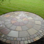 Natural sandstone circle feature Liverpool
