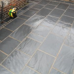 Natural slate patio paving Liverpool