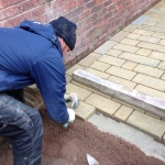 How to lay York stone setts ( cobbles )
