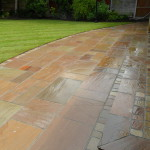 Sandstone patio paving Liverpool