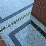 Granite patio detailing