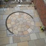 Natural sandstone paving Lancashire