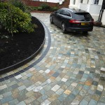 Curved stone driveway Liverpool