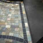 Stone sett driveway entrance