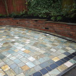 Reclaimed brickwork on stone sett driveway in Liverpool