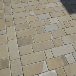 York stone setts laid by Dempsey in Cheshire