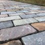 Indian sandstone sett paving laid in Grassendale, South Liverpool