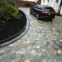 Natural quartz sett driveway