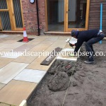 Yorkstone patio laying in South Liverpool