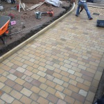 Yorkstone driveway in the Aigburth area of Liverpool