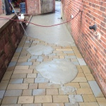 Pointing paving and patios