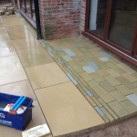 Laying paving and patios