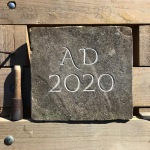 2020 hand carved datestone