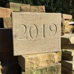 Yorkshire grit v-cut 2019 date stone