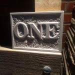 Hand carved natural stone house numbers