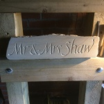 Wedding stone carving