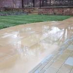 Yorkstone paving design Liverpool