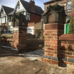Handmade brick and sandstone piers in South Liverpool