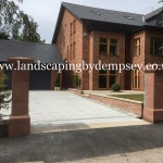New stone pillars in South Liverpool